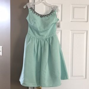 Mint green bridamaids dress
